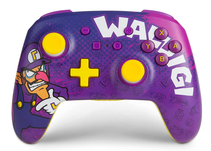 Front profile photo of Power A's Waluigi controller